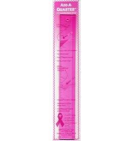 CM Designs Add A Quarter Ruler- 12 inch - Pink