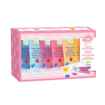 LOVELY PAPER Les couleurs - Pour les petits 6 tubes de peinture à doigts Sweet