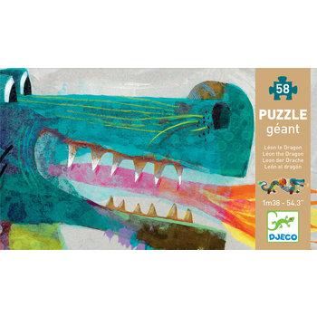 DJECO Puzzle géants Léon le dragon - 58 pces