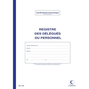 ELVE Registre des délégués du personnel 32 x 25 cm  - 40 pages