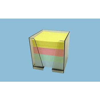 ELVE Bloc Cube 4 couleurs avec conteneur - 90 x 90 x 90 mm - 80 grammes