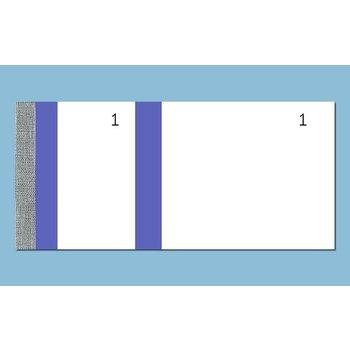 ELVE Bloc vendeur bleu 60 x 135 mm
