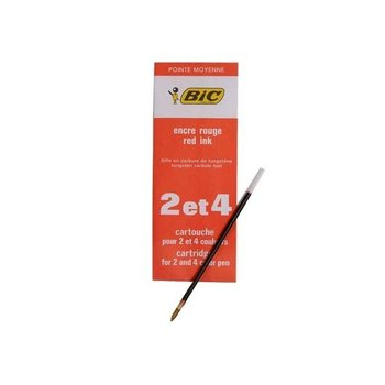 BIC Recharge 4 couleurs Pointe Moyenne - Rouge X1