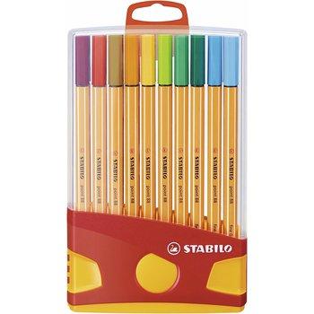 STABILO ColorParade x 20 stylos-feutres point 88 - boîtier rouge/orange