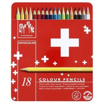 CARAN D'ACHE Swisscolor® - Boite métal à 18 couleurs