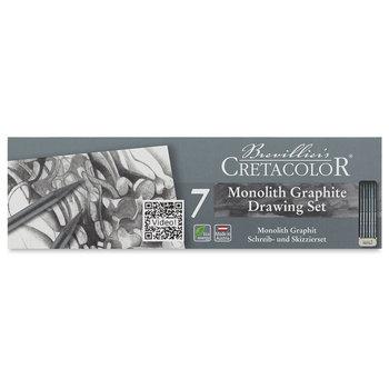 CRETACOLOR Boîte métal Esquisse Monolith 6 Crayons et 1 gomme