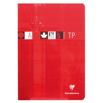 CLAIREFONTAINE Cahier piqué TP grands carreaux-uni - 21x29,7 - 80 pages - Coloris aléatoires
