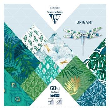 CLAIREFONTAINE Origami Pochette 60 feuilles 15x15cm - Végétal chic