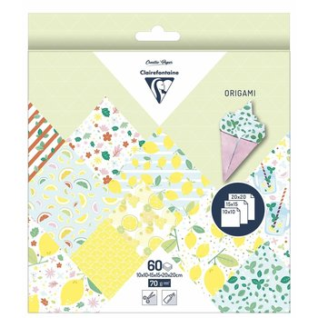 CLAIREFONTAINE Origami Pochette 60 feuilles 3 tailles - Citron