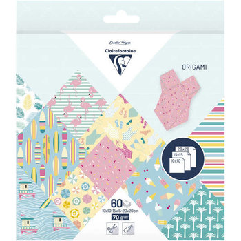 CLAIREFONTAINE Origami Pochette 60 feuilles 3 tailles - California