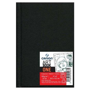 CANSON Liv  98Fl One Sketch Book Canson® Noir 10.2X15.2 100G