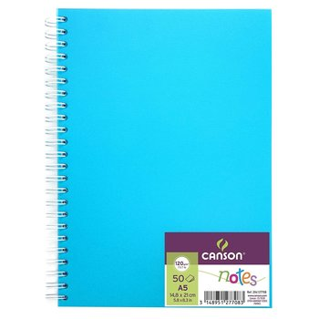 CANSON Carnet Spirale Notes Canson® 50Fl A5 120G/m² Bleu