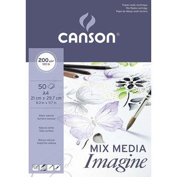 CANSON Bloc 50Fl  Imagine Canson®  A4 200G Blanc
