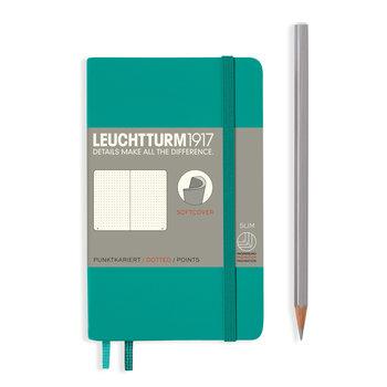 LEUCHTTURM Carnet Émeraude, Couverture souple, Pocket (A6), 123 p., pointillé