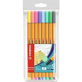 STABILO Pochette x 8 stylos-feutres point 88 - coloris pastel