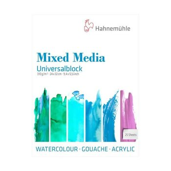 HAHNEMUHLE Universalblock Mixed média 25FL 24x32 310G