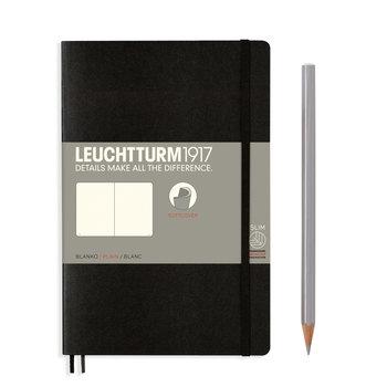 LEUCHTTURM Carnet Noir, Couverture souple, Paperback (B6+), 123 p., blanc