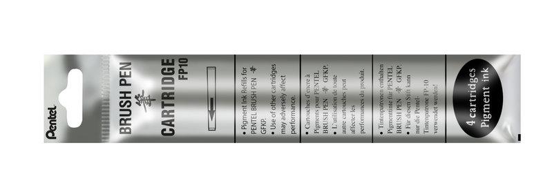 PENTEL Recharge stylo pinceau POCKET BRUSh  FP10 encre noire