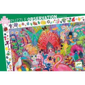 DJECO Puzzles observation Carnaval de Rio - 200 pcs