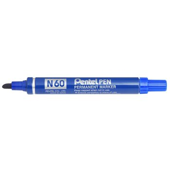 PENTEL Marqueur permanent PEN N50, pointe conique - bleu