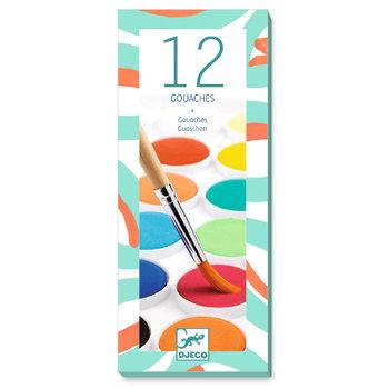 LOVELY PAPER Les couleurs - Pour les grands 12 pastilles gouaches Classique