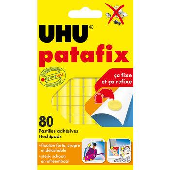 UHU PATAFIX jaune 80 pastilles repositionnables prédécoupées