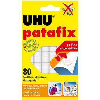 UHU PATAFIX blanc 80 pastilles repositionnables prédécoupées