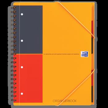 OXFORD Cahier Organiserbook A4+ couverture polypro avec trieur intégré  - 160 pages - Ligné