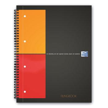 OXFORD Cahier Filingbook  A4+  - 4 sections couverture rembordée rigide - 160 pages - Petits carreaux