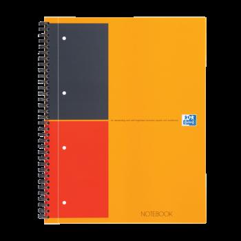 OXFORD Cahier Notebook A4+ - Reliure intégrale couverture rembordée rigide - 160 pages lignées