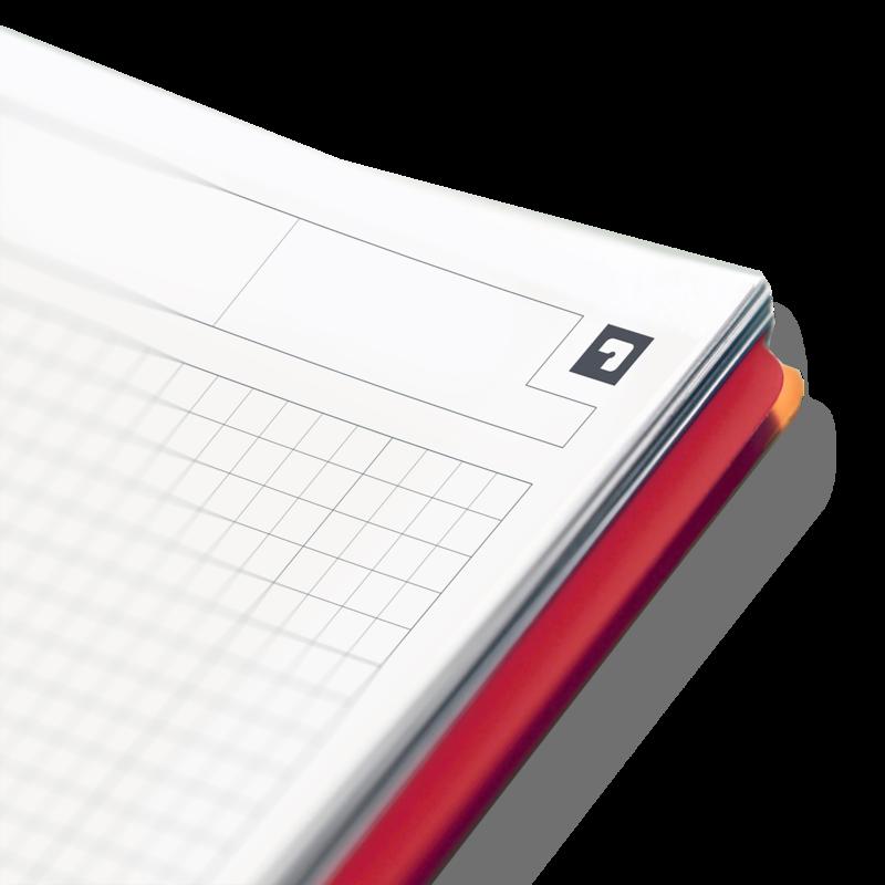 OXFORD Cahier Activebook  A4+ - couverture polypro avec intercalaires - 160 pages - Petits carreaux
