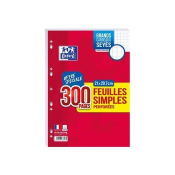 OXFORD Feuilles mobiles grand carreaux -  21 x 29,7cm - 300 pages