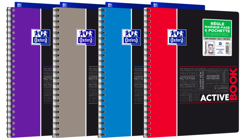 OXFORD ACTIVEBOOK CAHIER POLYPRO AVEC INTERCALAIRE 160 PAGES 90G 240x297 SEYES ETUDIANT