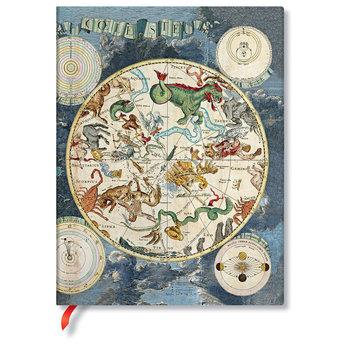 PAPERBLANKS Ancienne Cartographie Planisphère Céleste Ultra Ligné