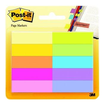 POST-IT Marque-pages Post-it® en papier,  10 blocs de 50 feuilles, couleurs assorties