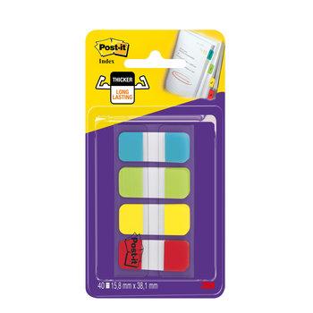 POST-IT Marque-pages Post-it® Mini Rigides couleurs standard - Lot 4 x 10