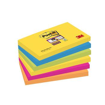 POST-IT Notes Super Sticky Post-it® Couleurs Rio, 76 x 127 mm, 6 blocs