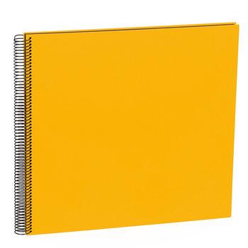SEMIKOLON Album Photo Spiral Economy Large - Jaune Soleil - Pages noires