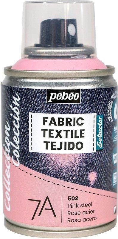 PEBEO 7A Spray textile 100ml Rose acier