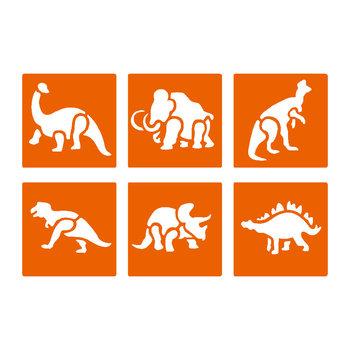 GRAINE CREATIVE Lot 6 Pochoirs Animaux Prehistoriques