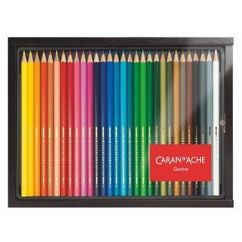 CARAN D'ACHE Plumier en bois - 30 Crayons Swisscolor®