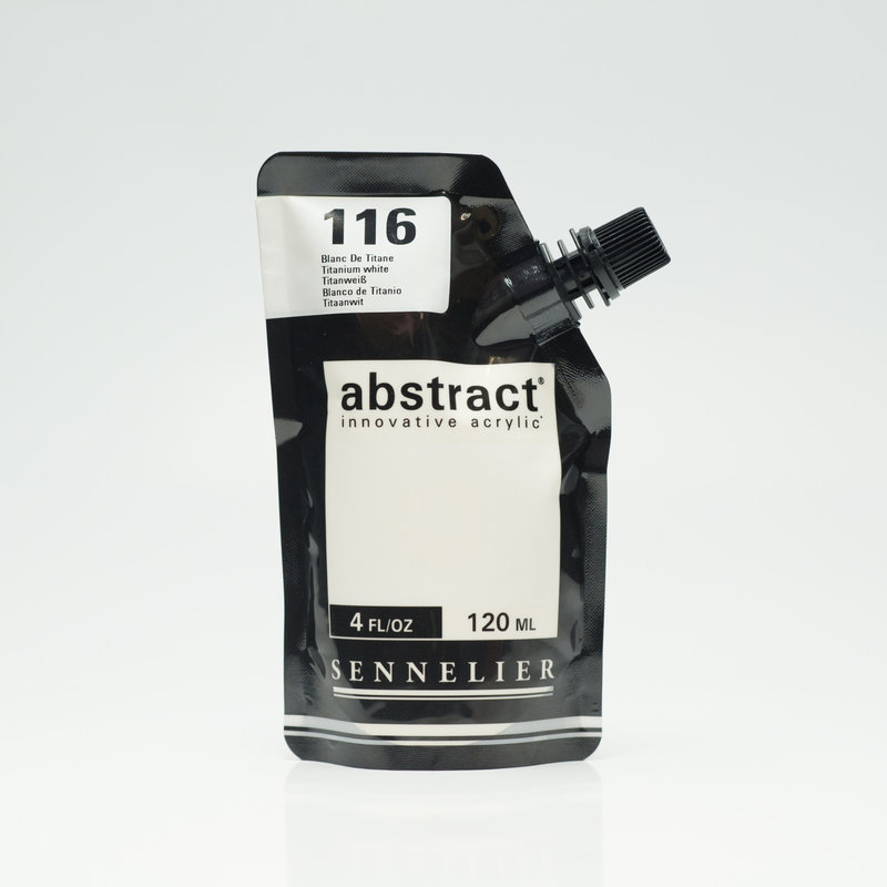 SENNELIER ABSTRACT Acrylique fine 120ml Blanc de Titane