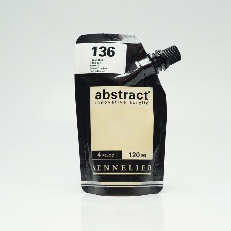 SENNELIER ABSTRACT Acrylique fine 120ml Titane Buff