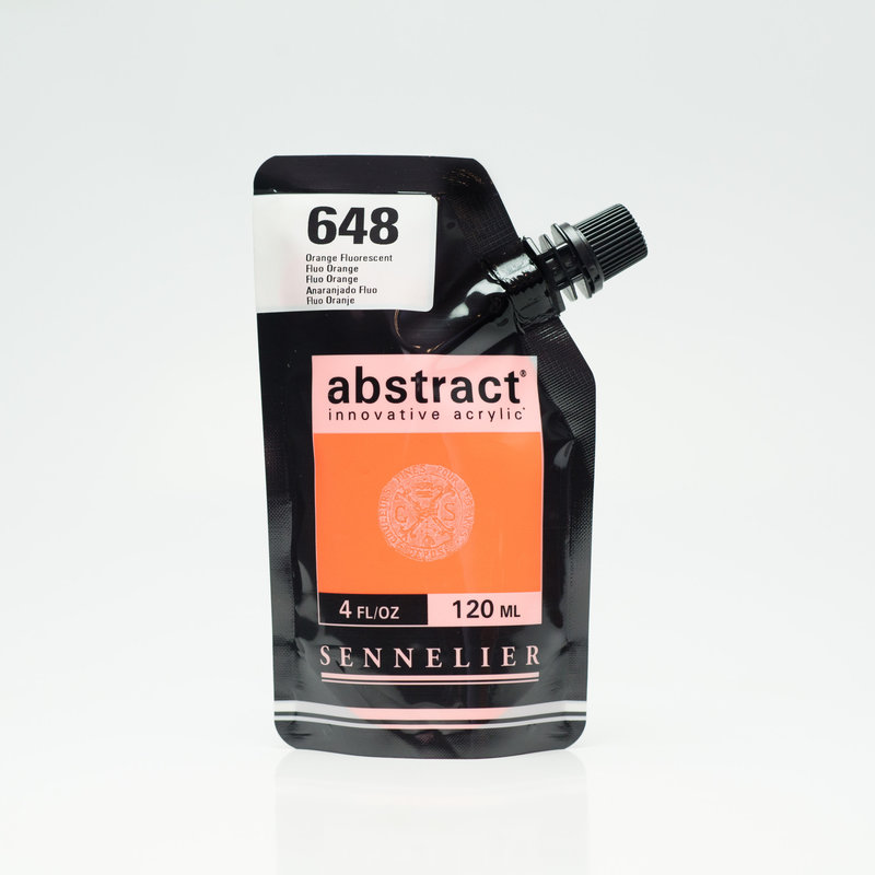 SENNELIER ABSTRACT Acrylique fine 120ml Orange Fluorescent