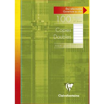 CLAIREFONTAINE Copies doubles lignées - 21x29,7 - 100 pages