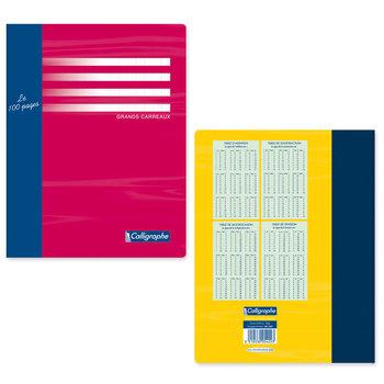 CLAIREFONTAINE Cahier de brouillon grands carreaux - 17x22 - 96 pages - Coloris aléatoires