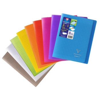 CLAIREFONTAINE Koverbook Cahier piqué grands carreaux  couverture polypropylène  - 17x22 cm - 48 pages - Coloris aléatoires