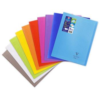 CLAIREFONTAINE Koverbook Cahier piqué grands carreaux couverture polypropylène - 24x32 cm -  96 pages - Coloris aléatoires