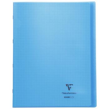 CLAIREFONTAINE Koverbook Cahier piqué petits carreaux couverture polypropylène - 24x32 - 96 pages - Coloris aléatoires