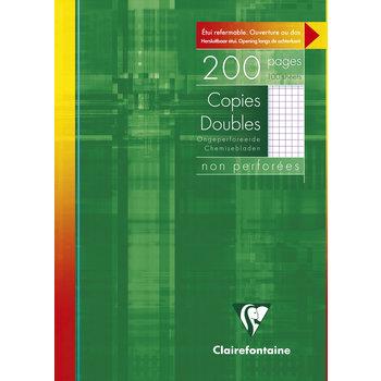 CLAIREFONTAINE Copies doubles non perforées petits carreaux - 21x29,7 cm - 200 pages